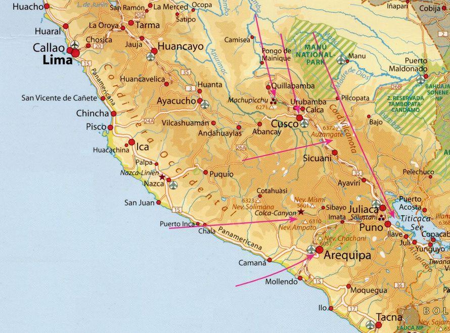 Peru Karte.Peru